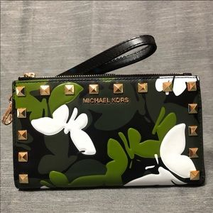 Micheal Kors Camouflage Butterfly Wallet